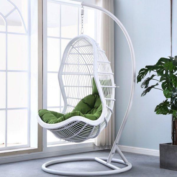 """Подвесное кресло из искусственного ротанга """"Calgary"""" white"""