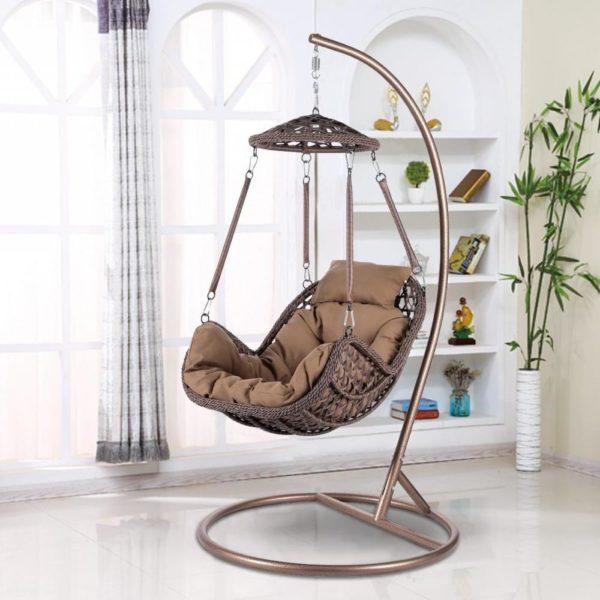 """Подвесное кресло из искусственного ротанга """"Caribean"""" brown"""