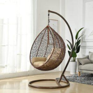 Подвесное кресло Tahiti средняя корзина Brown