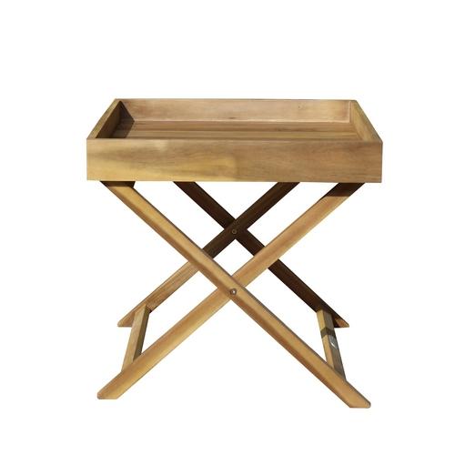 Садовый стол-поднос из акации FORMA