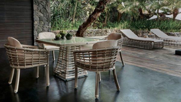 VILLA set 2 Плетеная мебель из искусственного ротанга