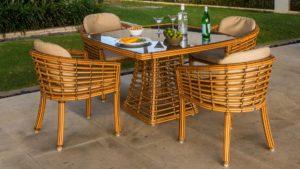 VILLA set 2 natural Плетеная мебель из искусственного ротанга