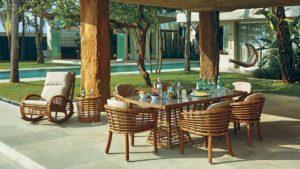 VILLA set 6 Плетеная мебель из искусственного ротанга