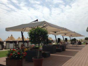 Зонт садовый профессиональный Leonardo Braccio 4х4 метра Италия