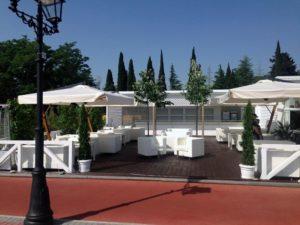 Зонт садовый профессиональный Palladio Braccio 3х4 Италия