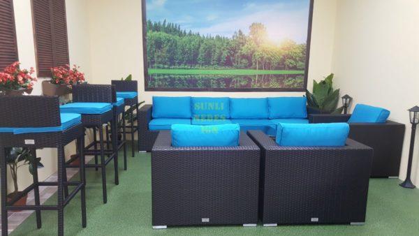 Mega Lounge black Комплект из искусственного ротанга