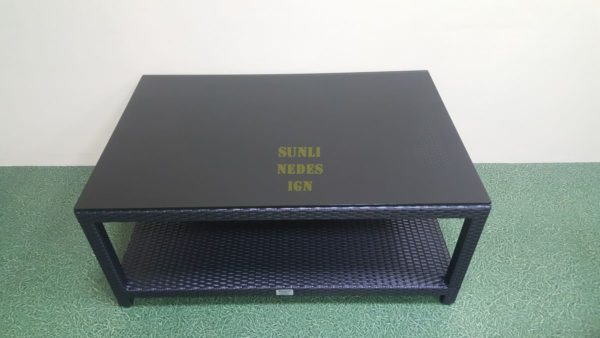 Mega black 120на80 стол журнальный ротанг