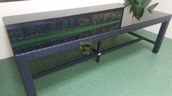Mega black 240х120 Стол обеденный ротанг искусственный