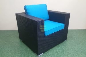 Mega black кресло из ротанга