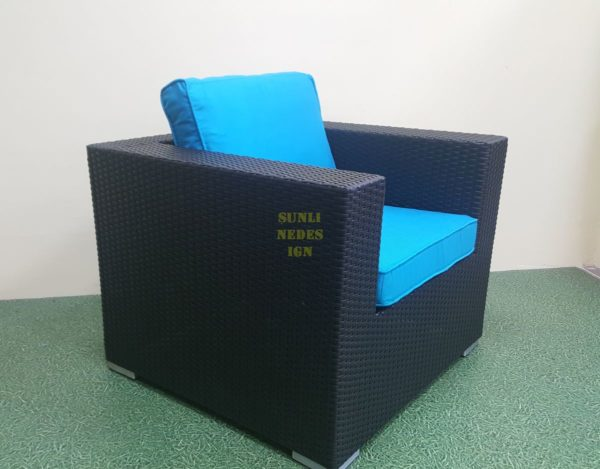 Mega black плетеное кресло для отдыха