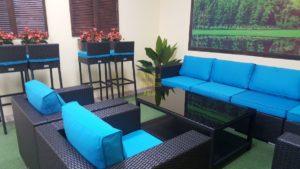 Mega lounge black Мебель из искусственного ротанга