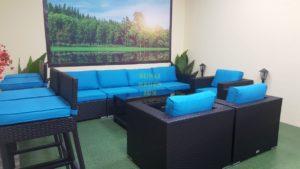 Mega lounge black Плетеная мебель