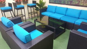Mega lounge black черная плетеная мебель