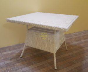 Samurai white 90х90 Стол из искусственного ротанга