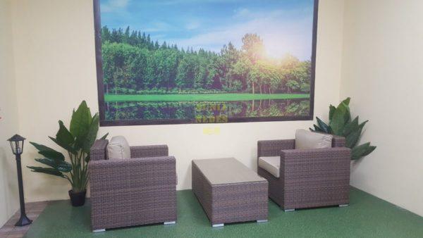 Фото-Adagio beige cafe set Плетеная мебель