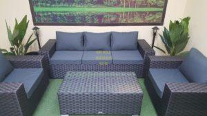 Фото-Cinzano black Комплект мебели из ротанга искусственного