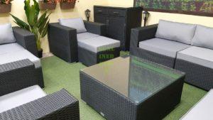 Фото-Luisa Lounge set 8 Мебель ротанг серый
