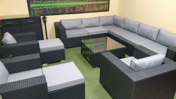 Фото-Luisa Lounge set 8 Плетеная мебель цвет антрацит