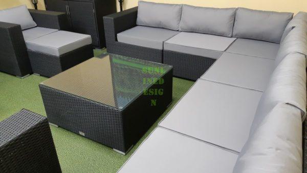 Фото-Luisa Lounge set 8 Садовая мебель из ротанга