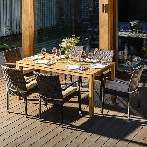 Фото-Садовая плетеная мебель AURA +Milano 6
