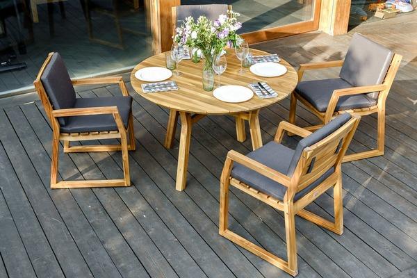 Фото-Садовая мебель MODENA D 120 dining set