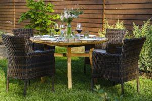 Садовая плетеная мебель Modena D120 + Aroma 4 персоны