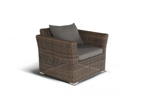 Фото-Cappuccino brown Кресло из искусственного ротанга лаунж