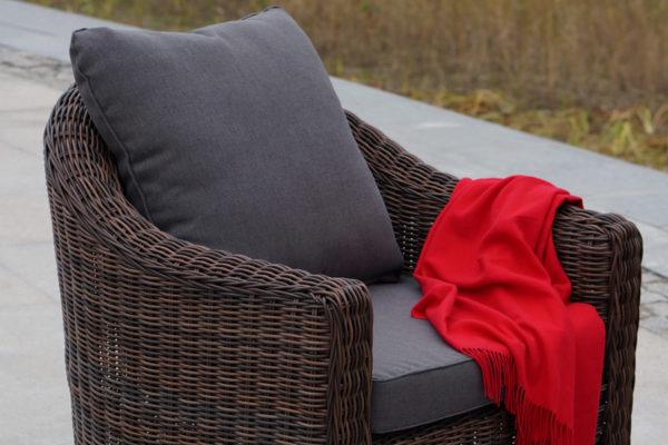 Фото-Кресло из искусственного ротанга Con panna