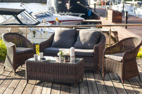 Мебель садовая ротанг Con panna compact
