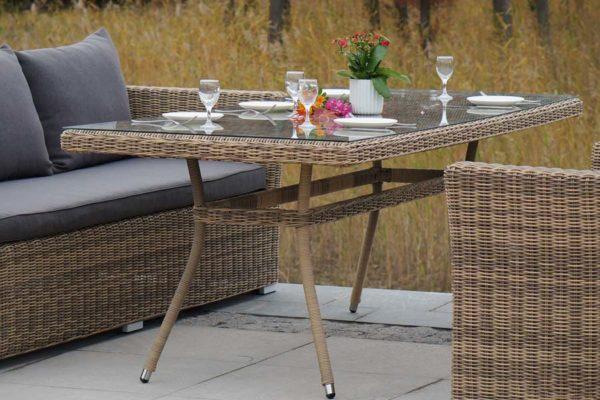 Обеденный комплект мебели ротанг Mocaccino
