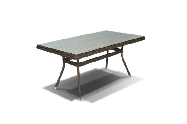 Фото-Стол из искусственного ротанга Latte 160 brown