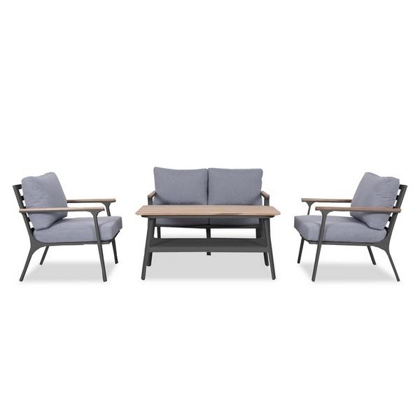 Фото-Садовая мебель алюминиевая CONCORDE black graphite