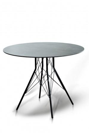 Стол для кафе Conte D90 grey HPL