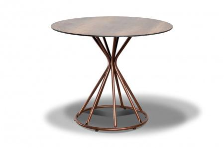 Фото-Стол для кафе Lyon D90 brown wood HPL