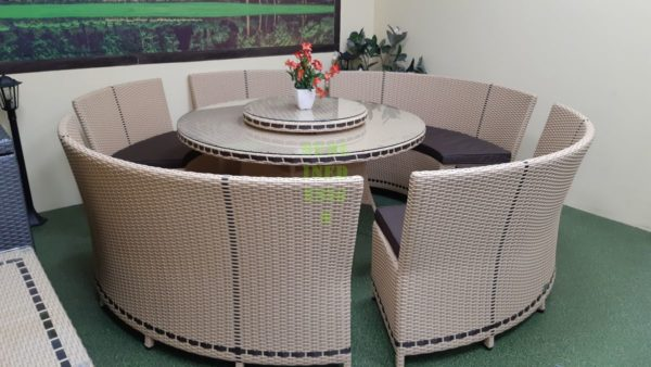 Фото-China beige Обеденная мебель ротанг