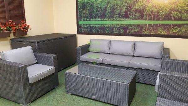 Louisiana Lounge grey Плетеная мебель