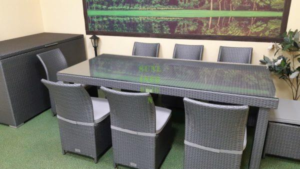 Фото-Louisiana grey dining Мебель из ротанга обеденный
