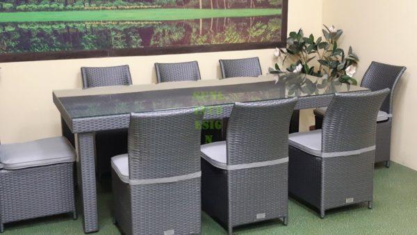 Фото-Louisiana grey dining Плетеная мебель