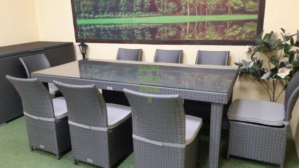 Фото-Louisiana grey dining Садовая мебель из ротанга