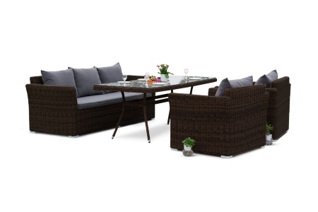 Фото-Mocaccino brown Плетеная мебель