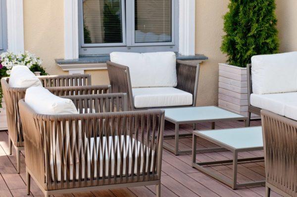 Фото-Садовая мебель из роупа Casablanca