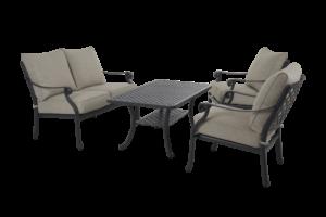 """Садовая мебель """"Arras"""" lounge set 2 black"""