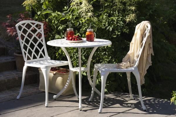 """Садовая мебель """"Arras"""" white cafe set"""