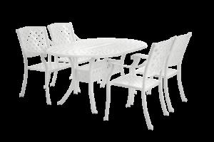 Arras white dining set Садовая мебель