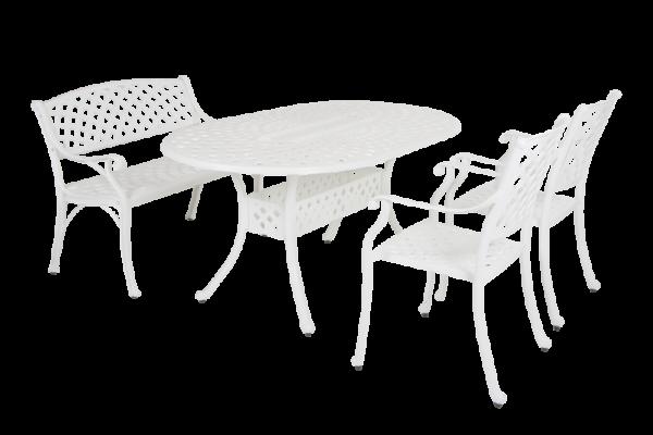 Arras dining white Садовая мебель