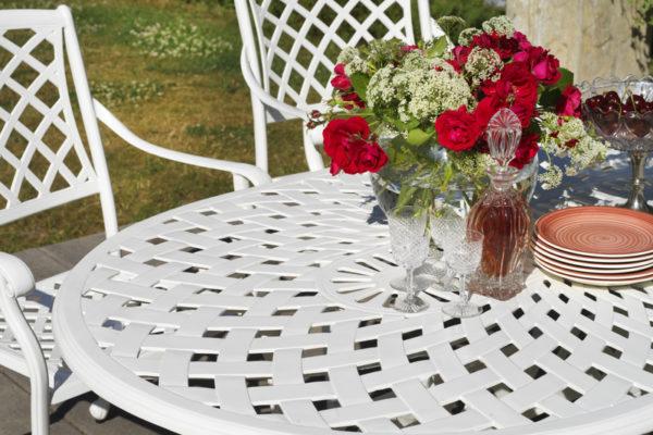"""Стол садовый """"ARRAS"""" 156 white обеденный"""