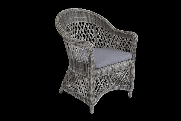 KAMOMILL grey Кресло из искусственного ротанга
