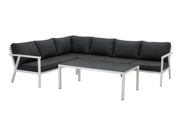 RANA white lounge левый Садовая мебель из алюминия