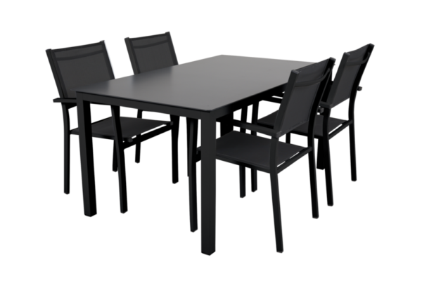Rana black 150+4 Садовая мебель set 1 Brafab