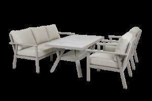 SAMVARO beige Садовая мебель обеденная set 2